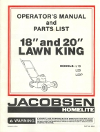 Jacobsen 18 & 20 Lawn King Operations Manual | Other Files | Documents and Forms