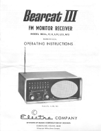 Electra Bearcat III Scanner Operations Manual | Other Files | Documents and Forms