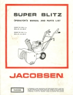 Download the Documents and Forms Other Files | Jacobsen Super Blitz Snow Blower Operator's Manual