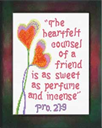 Heartfelt - Proverbs 27:9 | Crafting | Cross-Stitch | Religious