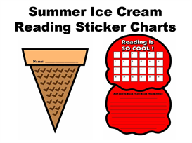 Summer Ice Cream Reading Sticker Charts | Other Files | Documents and Forms