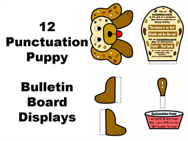 12 Punctuation Puppies Display Set | Other Files | Documents and Forms