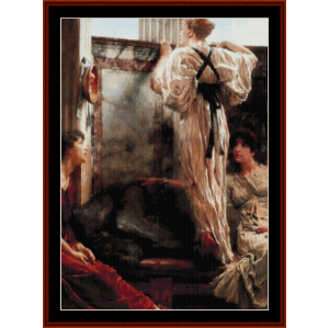 Who is It? - Alma Tadema cross stitch pattern by Cross Stitch Collectibles | Crafting | Cross-Stitch | Wall Hangings