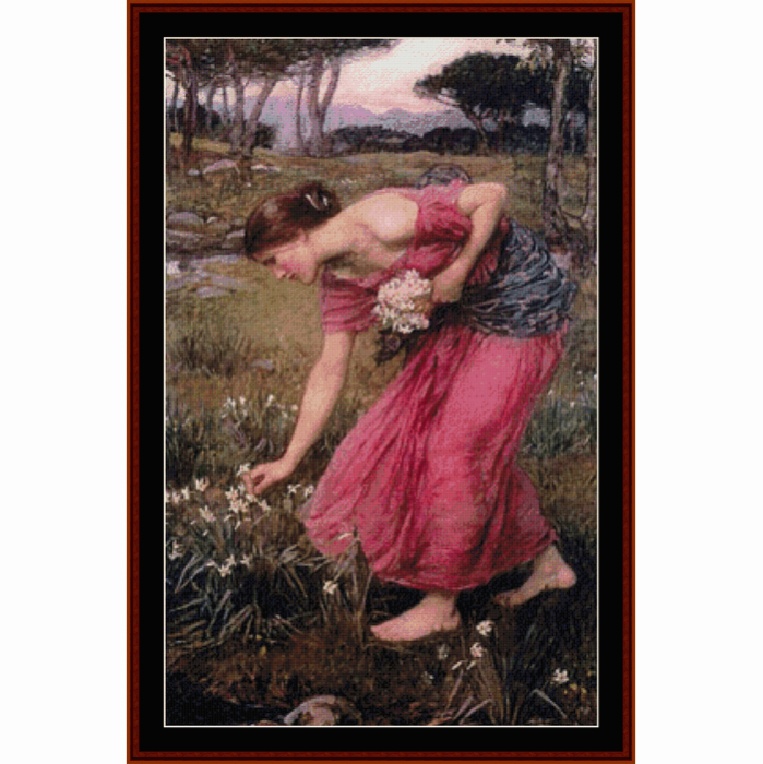 First Additional product image for - Narcissus - Waterhouse cross stitch pattern by Cross Stitch Collectibles