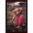 Narcissus - Waterhouse cross stitch pattern by Cross Stitch Collectibles | Crafting | Cross-Stitch | Wall Hangings