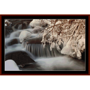 Winter Creek - Nature cross stitch pattern by Cross Stitch Collectibles | Crafting | Cross-Stitch | Wall Hangings