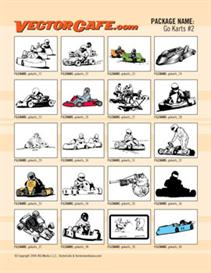 Go Karts Vector Clip Art #2 | Other Files | Clip Art