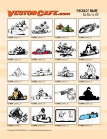 go karts vector clip art #2
