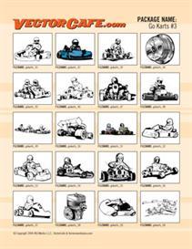 go karts vector clip art #3