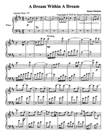 a dream within a dream sheet music