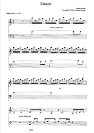 Escape Sheet Music | Music | Instrumental