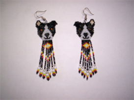 Brick Stitch Pitt-Bull Delica Seed Beading Fringe Earring Pattern | Other Files | Arts and Crafts