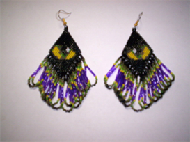 Brick Stitch Cats Eye Delica Seed Beading Dangle Earring Pattern | Other Files | Arts and Crafts