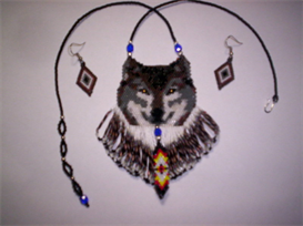 Brick Stitch Wolf Delica Seed Bead Pendant Pattern | Other Files | Arts and Crafts