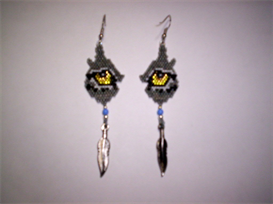 Brick Stitch Wolf Eye Delica Seed Bead Earring Pattern | Other Files | Arts and Crafts