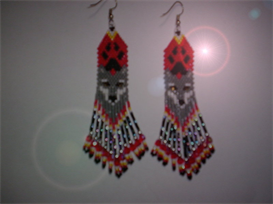 Brick Stitch Wolf/Paw Delica Seed Bead Fringe Earring Pattern | Other Files | Arts and Crafts