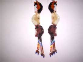 Brick Stitch Triple Horse Delica Seed Bead Earring Pattern | Other Files | Arts and Crafts