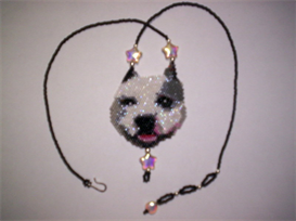 Brick Stitch Pitt-Bull Delica Seed Bead Pendant Pattern | Other Files | Arts and Crafts