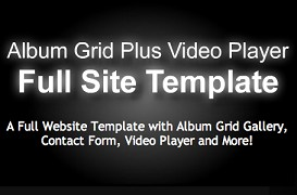Album Grid Plus Video Player Template | Software | Design Templates