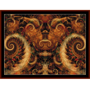 fractal 276 cross stitch pattern by cross stitch collectibles