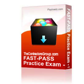 FAST-PASS Practice Exam - C-20 HVAC Contractor | Other Files | Documents and Forms