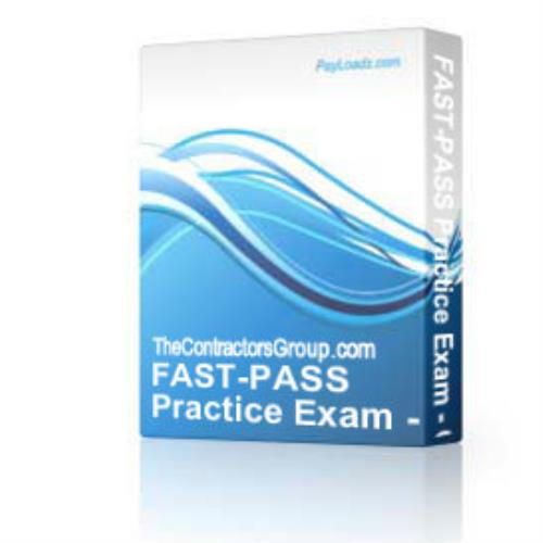 FAST-PASS Practice Exam - General Engineering Class | Software | Business | Other