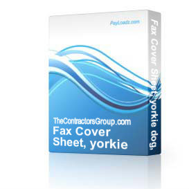 Fax Cover Sheet, yorkie dog, editable | Software | Business | Other