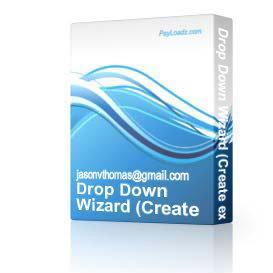 Drop Down Wizard (Create excellent drop down menu's ) | Software | Developer