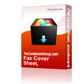 Fax Cover Sheet, snowboarder, editable | Other Files | Documents and Forms