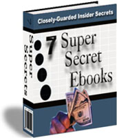 7 super secret ebooks insider secrets ebook cd