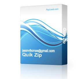 Quik Zip & eZy Unzip ( Quick & Easy Zipping Software Get 2 Fantastic Software Titles For The Price Of One! ) | Software | Utilities