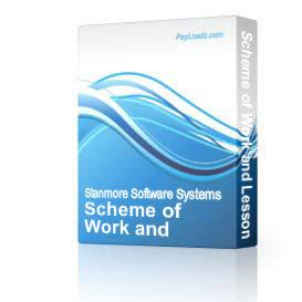 Scheme of Work and Lesson Planner | Software | Training