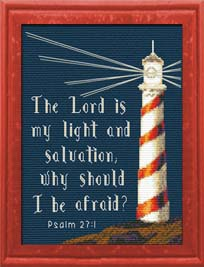 Light Strength - Psalm 27:1 Chart | Crafting | Cross-Stitch | Religious