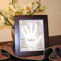 Name Engraved - Isaiah 49:16 | Crafting | Cross-Stitch | Religious