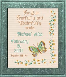 Wonderfully Made - Psalm 139:14 Chart | Crafting | Cross-Stitch | Religious