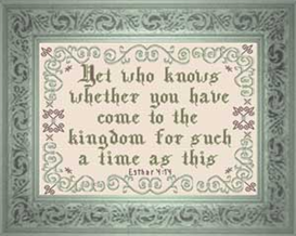 For Such a Time as This | Crafting | Cross-Stitch | Religious