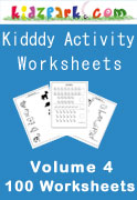 100 Kindergarten Activity Worksheets - Vol 4