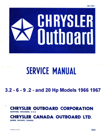 Chrysler 2-6-9-20 HP Outboard manual 1963 to 1967 | eBooks | Reference