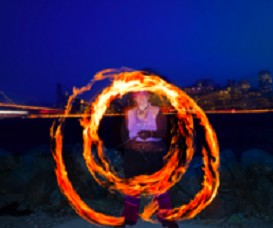 Poi Fire Dancing Lesson: Crosser, Crosser/Hug Turns | Movies and Videos | Educational