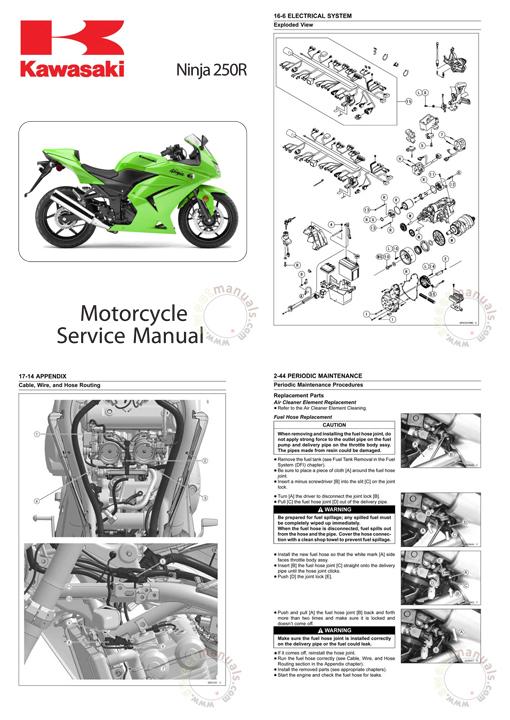 2008 kawasaki ninja 250r service repair manual