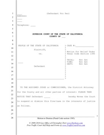 to Dismiss Case (CA PC 1385) | Documents and Forms | Legal