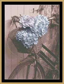 Floral Bike Ii | Crafting | Cross-Stitch | Other