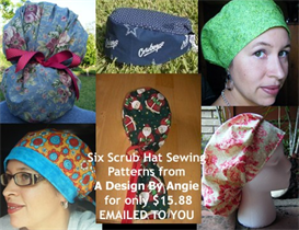 6 Scrub Hat Sewing Instructions Patterns Download | Other Files | Patterns and Templates