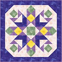 First Additional product image for - Blooming Beauty Tabletopper or Lap Quilt