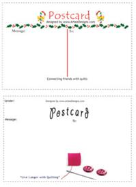 templates for postcard backs | Other Files | Arts and Crafts