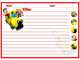 Creative Writing Bus Stationery Set | Other Files | Documents and Forms