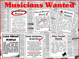 Musicans Wanted Bulletin Board Kit | Other Files | Patterns and Templates