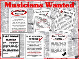 musicans wanted bulletin board kit