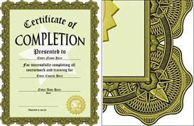 award of completion certificate