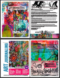 Art Journaling FREE digital art kit by Traci Bautista | Other Files | Arts and Crafts